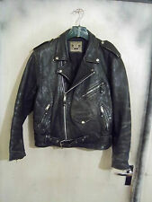 VINTAGE 70'S BLL UK MADE in pelle Brando Giacca Moto 40