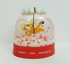 Vintage 1978 1981 Valentines Day GARFIELD Snow Globe Enesco V-Day Hearts Cupid