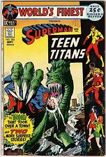 World's Finest Comics 205 superman and the teen titans DC 1971 + shining Knight
