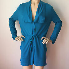 NEW ST JOHN KNIT SIZE S WOMENS SPA JACKET BLUE PRUSSIAN