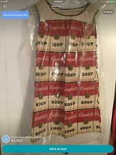 VINTAGE CAMPBELL'S SOUP THE SOUPER PAPER DRESS ~ ANDY WARHOL ~ W/ TAG ~ 1960's