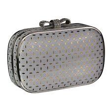 Silver Pink Black Red Hardcase Clutch Bag Wedding Evening Ladies Handbag New