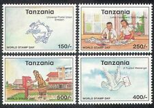 Tanzania 1998 Stamp Day/UPU/Pigeon/Dove/Post Office/Birds/Animation 4v (n39879)