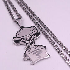 "Twiztid 2inch RIDDLEBOX CHARM ICP JOKERS CARD PENDANT w/30"" NECKLACE CUBA CHAIN"