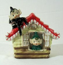 Vintage Dickson Japan Christmas Planter Candy Dish ~ PIXIES in a COTTAGE