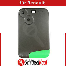 Renault 2 Tasten Schlüssel Karte Gehäuse mit Rohling Autoschlüssel Fernbedienung