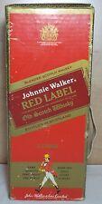 VHTF VTG JOHNNIE WALKER RED LABEL NUMBERED HARD PAPER CASE  ''NO ALCOHOL''