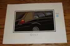 Original 1992 Volkswagen VW Golf Deluxe Sales Brochure 92