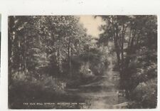 Old Mill Stream Bedford New York Vintage USA Postcard 509a