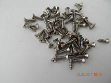 "STAINLESS STEEL FLAT HEAD PHILLIPS TAPPING SCREW. 6 x 1/2"" .  50 PCS. NEW"