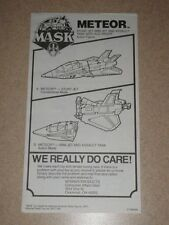 1987 VINTAGE M.A.S.K. Mask Meteor Instruction Booklet ONLY Kenner