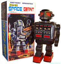 Metal House Japan Robot Tin Toy Super Space Giant Black Edition