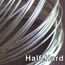 5 Feet Solid Sterling Silver Wire 20ga Round - 20 gauge - Half Hard- Top Quality