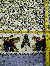 NORTHWOODS ADVENTURE IS IT SAFE BORDER PRINT 100% COTTON FABRIC  BY THE 1/2 YARD