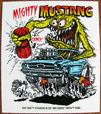 Rat Fink  MIGHTY MUSTANG  Decal   Racing Car Sticker   Hot Rat Rod  Drag Strip