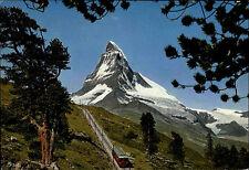 Zermatt Gornergrat Color AK ~1960/70 Gornergratbahn Blick auf das Matterhorn