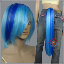 HOT SELL !!! DJ Pon3 Wig Tail Set / Friendship is Magic / Blue / Cosplay DNA