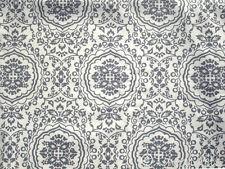 Stoff@Baumwolle@Schweden Landhaus Blumen blau grau Ökotex Standard100