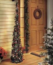 """65"""" PRELIT LED SLIM SEQUIN LIGHTED CHRISTMAS TREE w Light Timer Easy Assembly"""