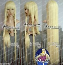 Cos wigs cosplay wig perruque straight Chobits Eruda long yellow blonde golden #