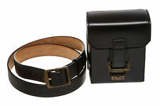 Louis Vuitton Black Leather Belted Waist Bag