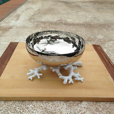 Michael Aram White Ocean Collection Coral Reef Stainless Steel Serving Bowl