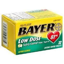 Bayer Low Dose Safety Coated Aspirin 81mg - 32ct