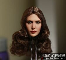 "1:6 Accessory Elizabeth Olsen Scarlet Witch Female Head Sculpt F 12"" Body Figure"