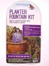 Aquanique 70gph Fountain Planter Pump QDCFK w/extension,3 nozzles NEW- FREE ship
