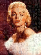 MARILYN MONROE photo mosaic cm. 30x41poster with a lot of pics 4