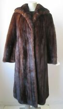 Women's Sz 8 Dark Mahogany Mink Fur Coat MINT CLEARANCE SALE