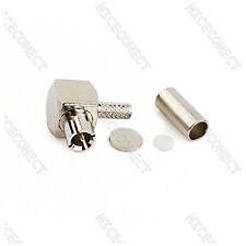 TS-9 Crimp Plug male RA Connector for GSM 4G Antenna Wireless Booster