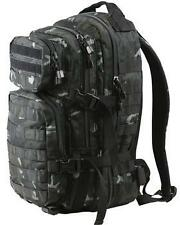 BRITISH ARMY SPECIAL FORCES STYLE 28 LITRE ASSAULT PACK BACKPACK in BLACK CAMO