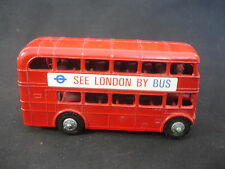 Old Vtg Lone Star Diecast Double Decker Bus See London By Bus England Toy