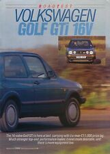 Volkswagen VW Golf GTi 16V 1986 Road Test from Motor December 1986