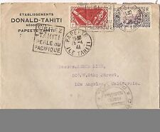 French Oceania 1941 2F + 50c cover to USA (baj)