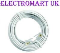 HIGH SPEED BT BROADBAND ADSL MODEM ROUTER RJ11 PLUG LEAD CABLE WHITE 10M