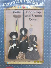 """Vtg 80s Ozark Country Crafts pattern AMISH Polly Doorstop Broom cover 21"""" doll"""