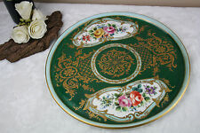 Camille Le tallec signed French porcelain hand paint floral plate 60's