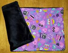 Owl Love Peace Hearts Minky handmade Baby Burp Cloth Diaper Changing Pad