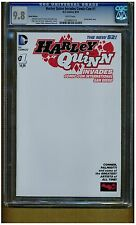 HARLEY QUINN INVADES COMIC-CON #1 CGC 9.8 THE NEW 52 PARTIAL BLANK COVER VARIANT