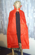Unisex Full Length VAMPIRE CAPE RED Nylon Dracula Fancy Dress Costume Men Ladies