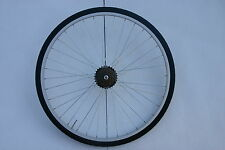 700c  SEALED BRG ALLOY  REAR HYBRID WHEEL WITH TYRE TUBE AND 6 SPEED FREEWHEEL