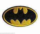 Batman Logo Embroidered Iron On / Sew On Patches Badges - Fancy Dress
