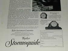 1929 Taylor Instrument advertisement, Stormoguide barometer