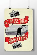 "METAL SIGN NINTENDO CONSOLE ""I Miss The Simpler Days"" Decor Wall Home Video Game"