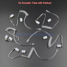 Wholesale 5 x Clear Acoustic Tube Earbud for Ham Radio Earpiece Headset Earphone