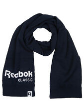 Reebok Classic Knitted Scarf Mens Retro Core Navy One Size Wool Blend Brand New