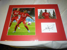 Mounted Nathaniel Clyne Signed Liverpool FC Card & Photo Display