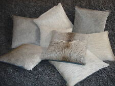 Kuhfell-Kissen, wolfsgrau, 30x30 cm, cowhide cushion, fur pillow